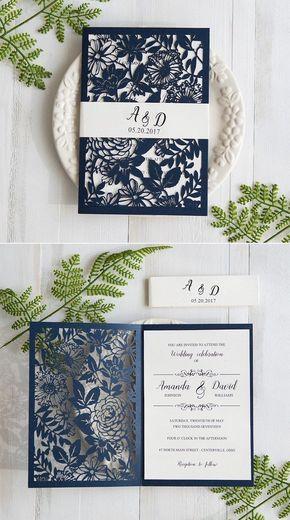 Hochzeitskarten selbst gestalten - Blumenmuster