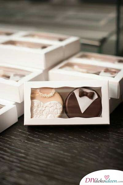 Hochzeitsgeschenke für Gäste – Braut und Bräutigam Kekse