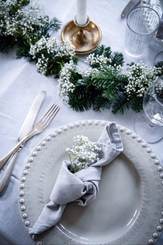 Geknotete Servietten für Hochzeit