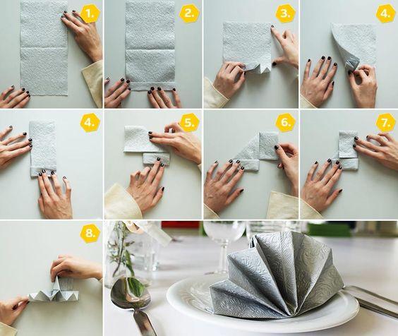 Hübsche Servietten falten zur Hochzeit
