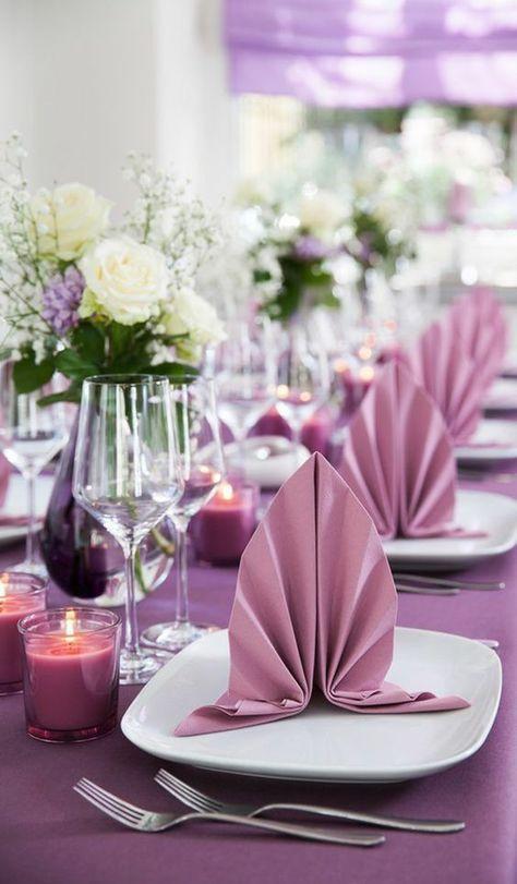 Papierservietten falten zur Hochzeit - Servietten zur Hochzeit falten