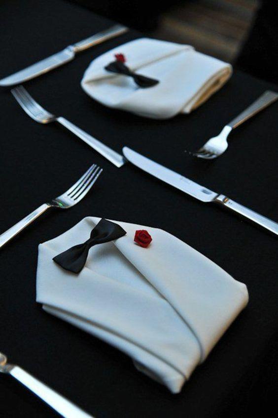 Smoking-Servietten - Hochzeitsservietten