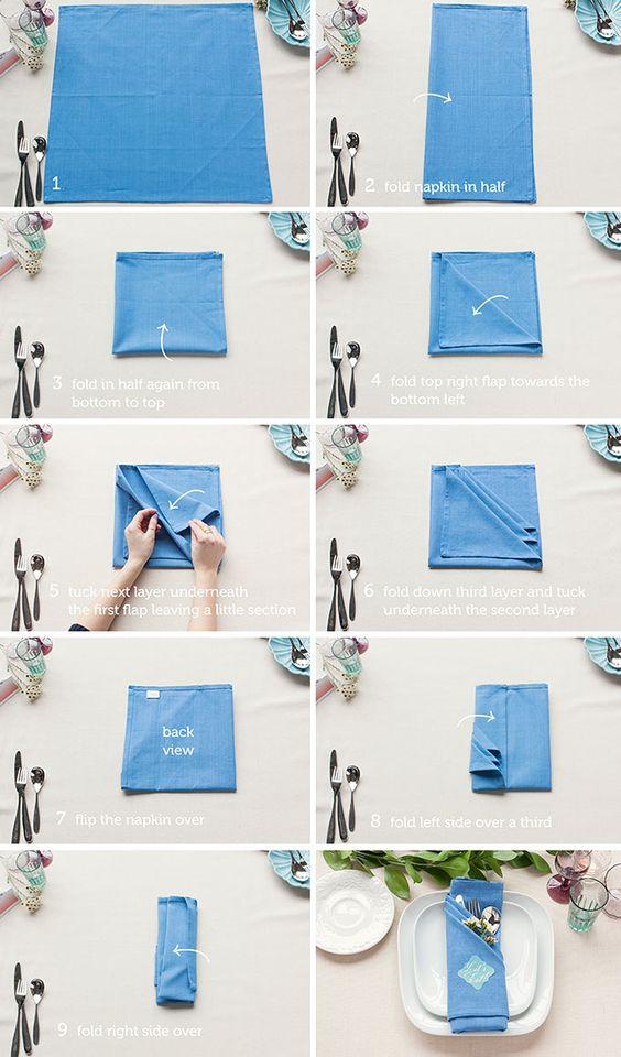 Servietten-Umschlag fürs Besteck