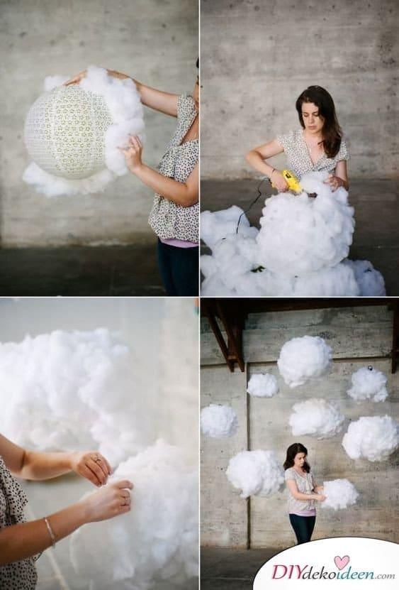 Schwebende Wolken – Hochzeitsdeko