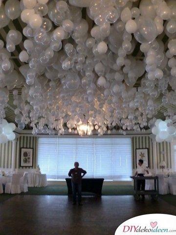 Ideen zur Silberhochzeit – Ballondeko