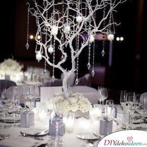 Kristallbäumchen – Hochzeitsdeko