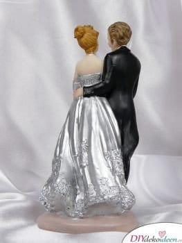 Tortenfigur zur silbernen Hochzeit