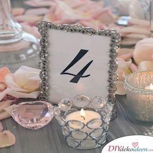 Tischnummern zur Tischdeko Silberhochzeit