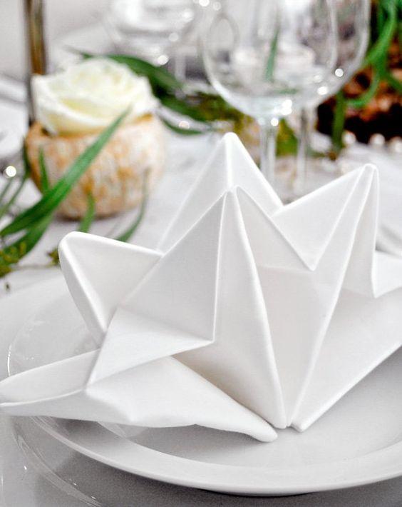 Servietten falten zur Hochzeit wie die Profis