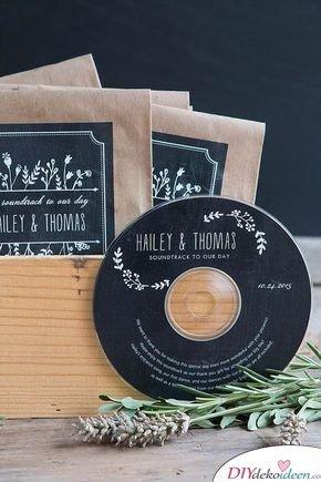 Geschenke für Hochzeitsgäste – Der Soundtrack eurer Liebe