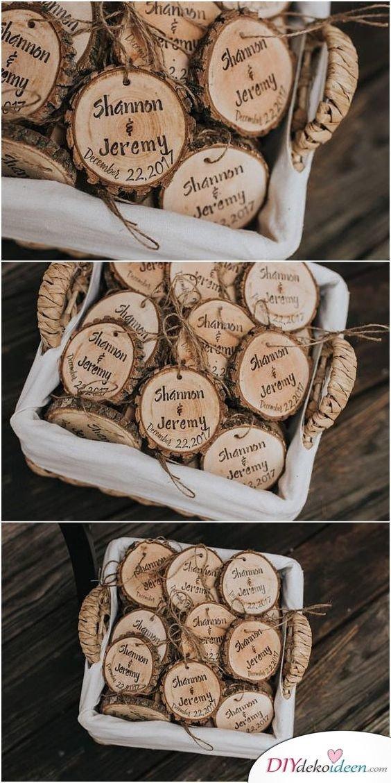 Holzschildchen - Gastgeschenke