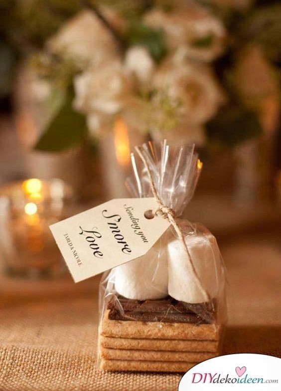 S´Mores als Geschenke für Hochzeitsgäste