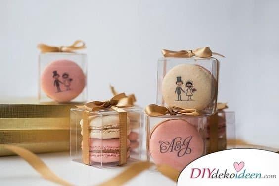 Gastgeschenke zur Hochzeit – Bedruckte Macarons