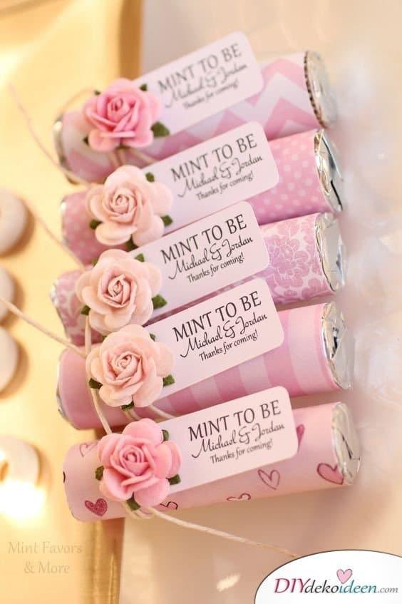 Geschenke für Hochzeitsgäste – Minzbonbons