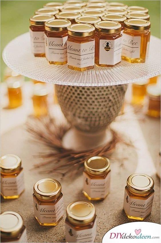 Hochzeit Gastgeschenke Ideen – Kleine Honiggläschen