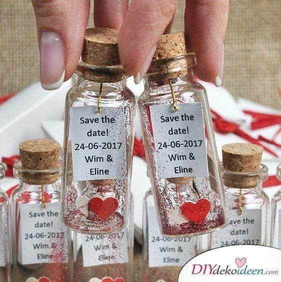 Flaschenpost - Hochzeit Gastgeschenke Ideen