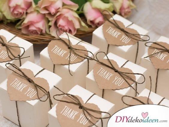 Hübsche Schächtelchen - Hochzeit Gastgeschenke Ideen