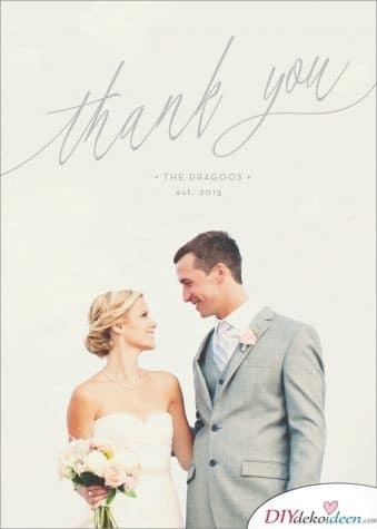 Schlichte Karte mit Foto – Hochzeitskarten