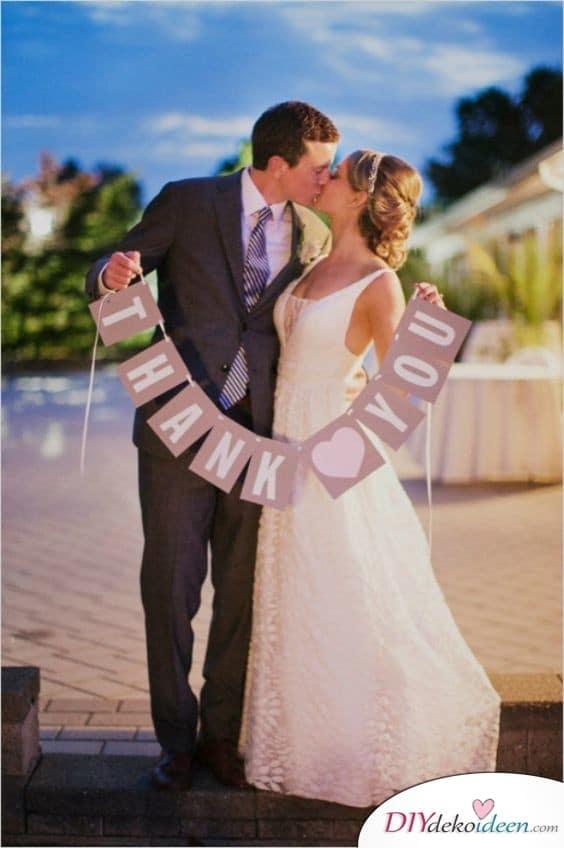 Danksagungsgirlande für die Hochzeit