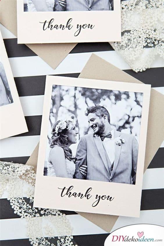 Elegante Karten im Polaroidstil – Hochzeit