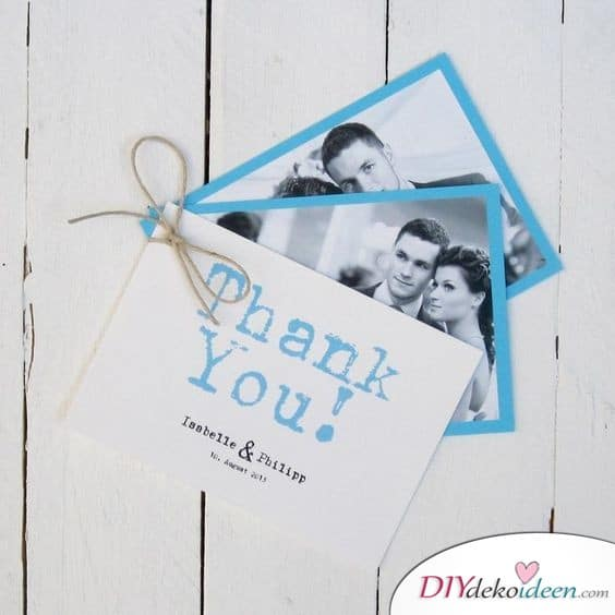Kleines Fotoalbum - Danksagungen für die Hochzeit
