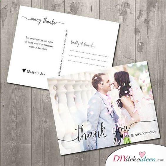 Postkarten - Danksagungskarten zur Hochzeit