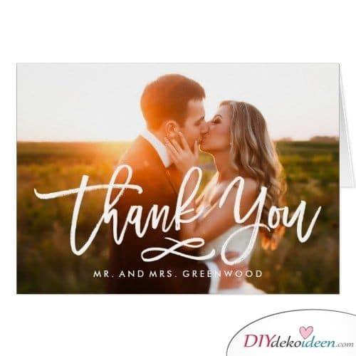 Einfache Dankeskarte mit Foto