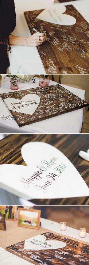 Hochzeitsgästebuch Ideen – Dekoratives Holzschild