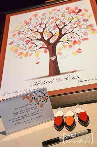 Fingerabdruck-Baum - Hochzeitsgästebuch Ideen
