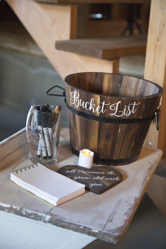 Bucket List Hochzeitsgästebuch