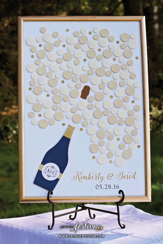 Champagnerflasche - Hochzeitsgästebuch Ideen