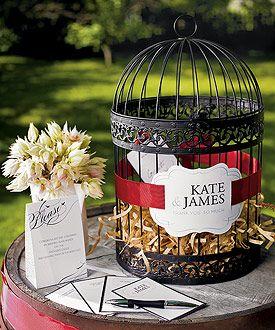 Vogelkäfig - Gästebuch Hochzeit Ideen