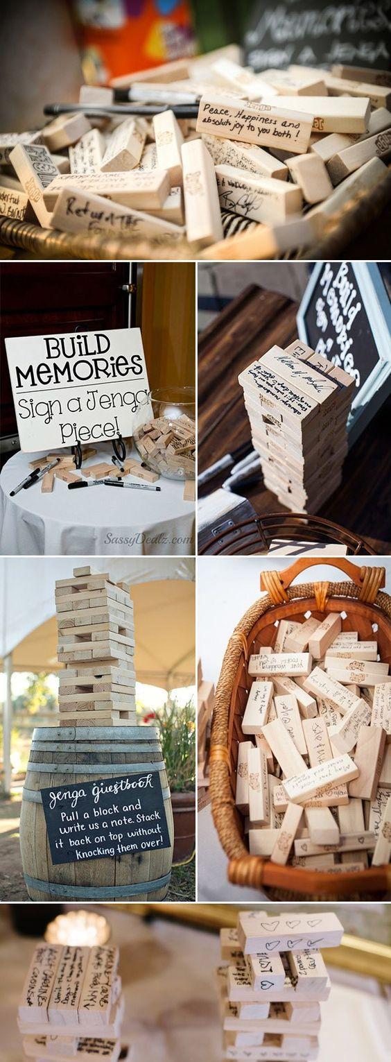 Jenga - Gästebuch Hochzeit Ideen