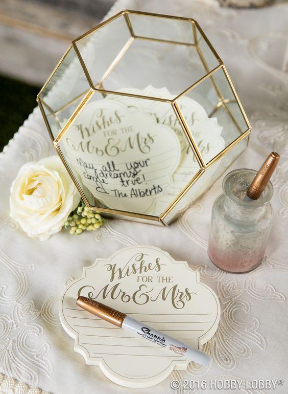 Glückwunschvase - Gästebuch Hochzeit Ideen