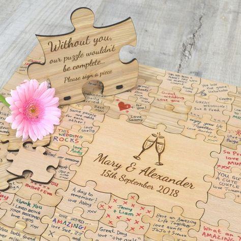 Puzzle-Hochzeitsgästebuch