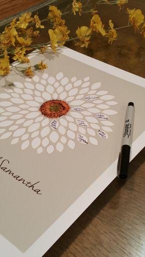 Gästebuch Hochzeit personalisiert – Sonnenblume