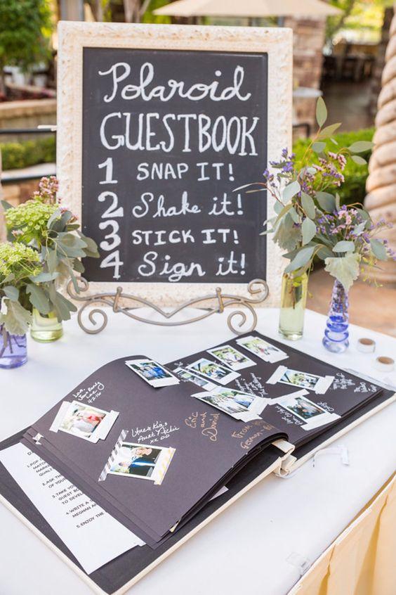Gästebuch Hochzeit Ideen - Einfaches Polaroid Gästebuch