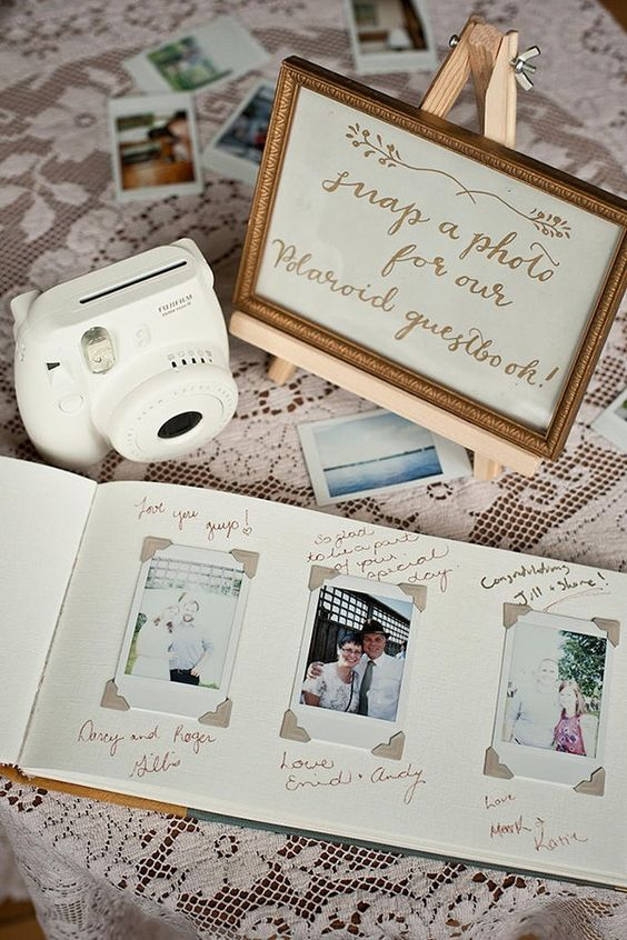 Gästebuch Hochzeit Ideen – Polaroid Gästebuch