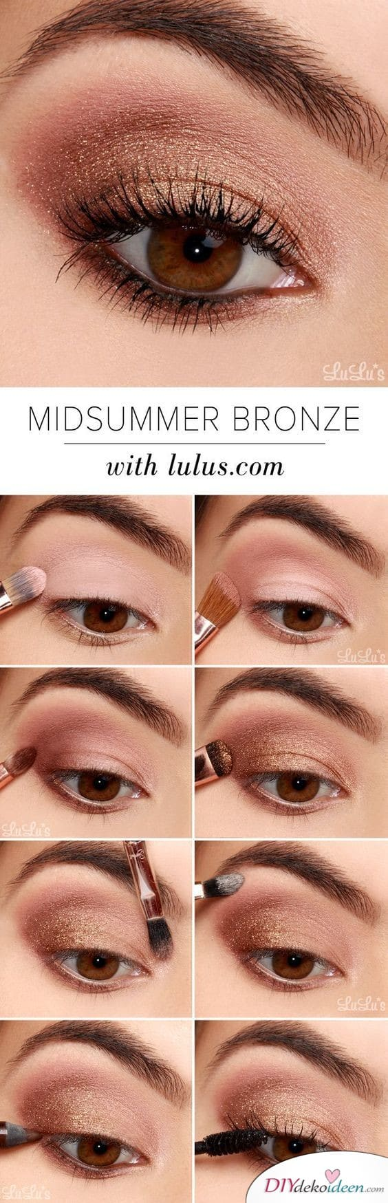 Mittsommer Augen-Make-up