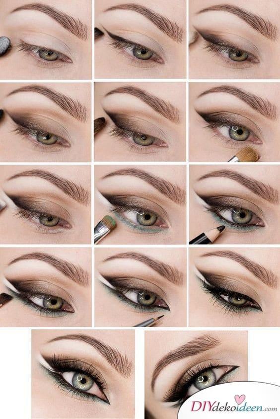 Augen schminken zur Hochzeit