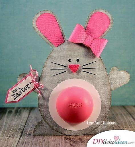 Lippenbalsam mit Osterhasenverpackung