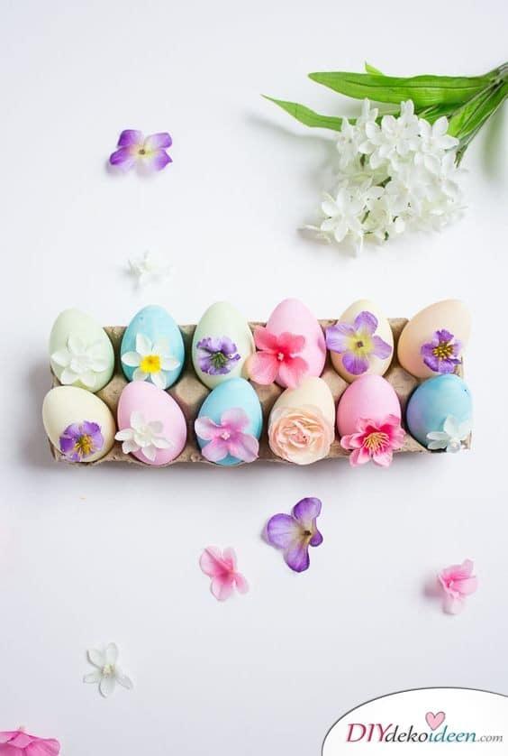 Geschenkideen für Ostern – Eier mit Blümchen