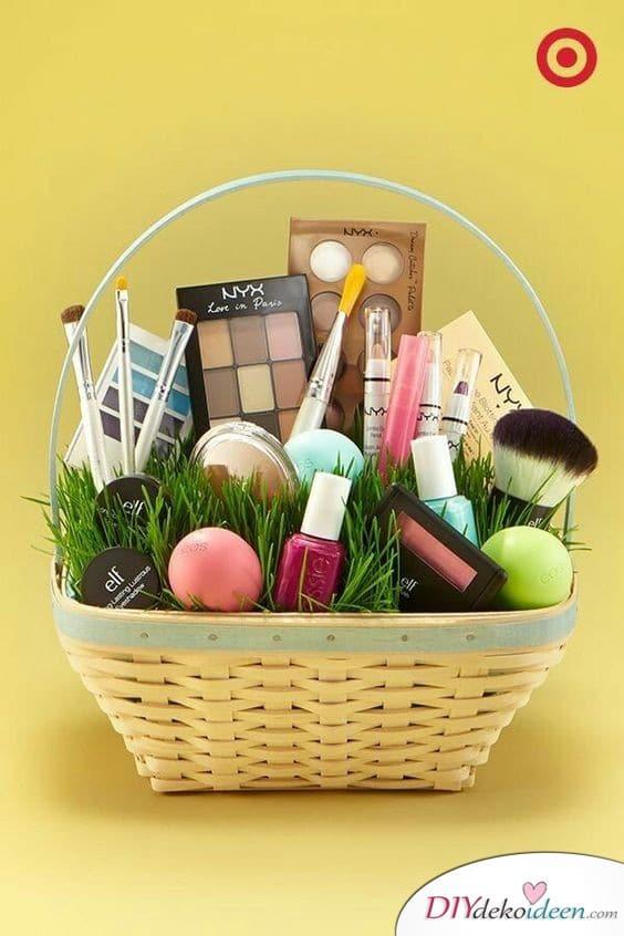 Ostergeschenke für Frauen – Schminkkörbchen