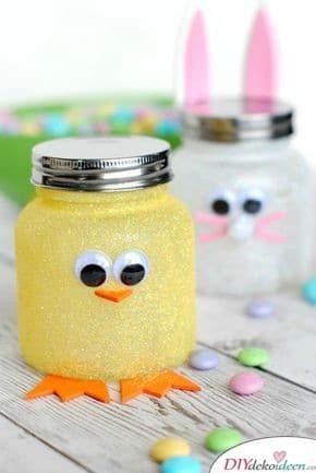 Süße Einmachgläser - Ostergeschenke basteln