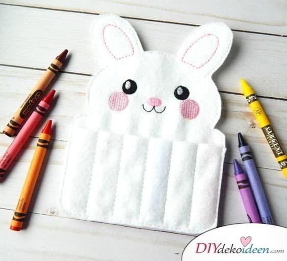 Hasen-Stiftemäppchen