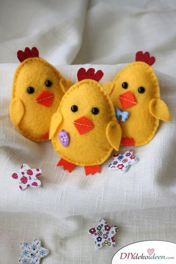 Filzküken - Ostergeschenke für Kinder