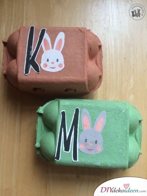 Osterhasenboxen zum Eiersammeln - Geschenke zu Ostern