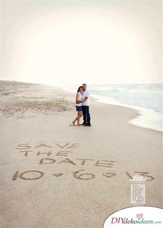 Ausgefallene Save the Date Karten – Strandeinladung