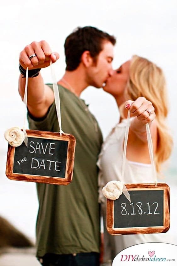 Schildchen - Einladungen zur Hochzeit selbst gestalten