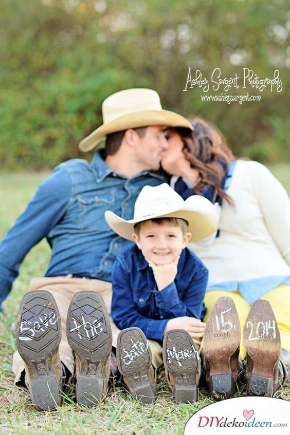 Save the Date Karten mit Familienfoto